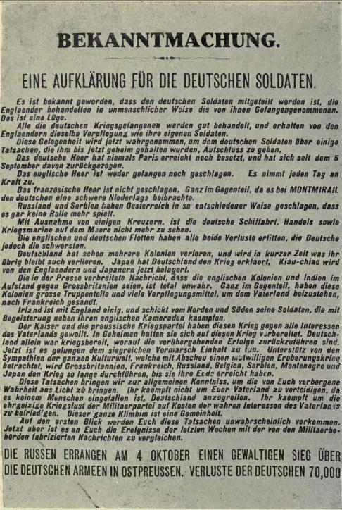 1.Weltkrieg, britische Propaganda 1914